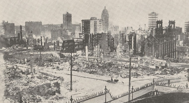 Business section. The 1906 San Francisco Earthquake and Fire Digital Collection, UC Berkeley, Bancroft Library
