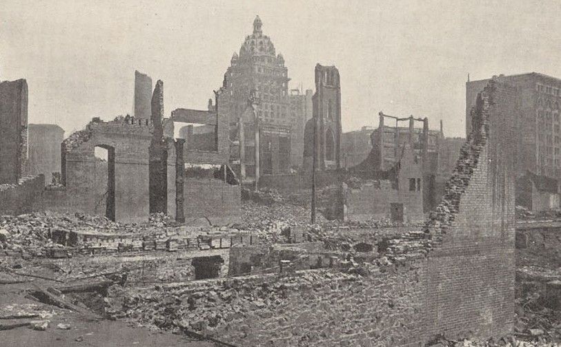 Fourth and Howard Street. The 1906 San Francisco Earthquake and Fire Digital Collection, UC Berkeley, Bancroft Library